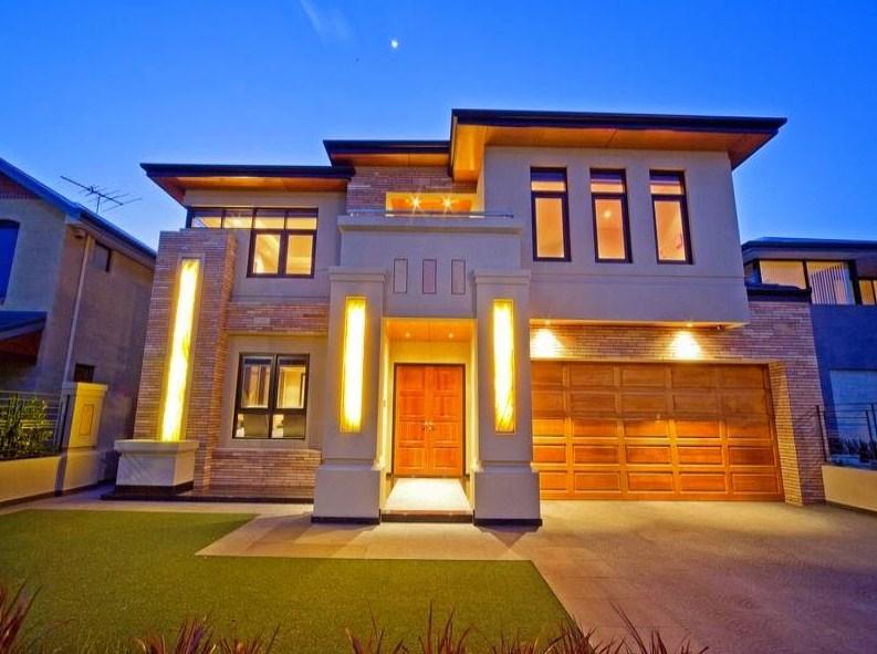 Fachadas de casas de dos pisos Pisos para exteriores de casas modernas