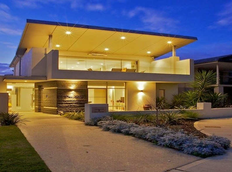 Fachadas de casas de dos pisos modernas