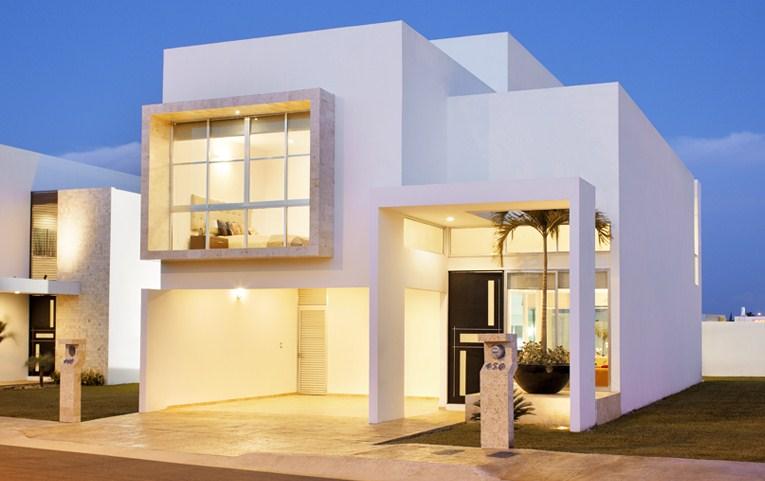 Fachadas de casas minimalistas con garage