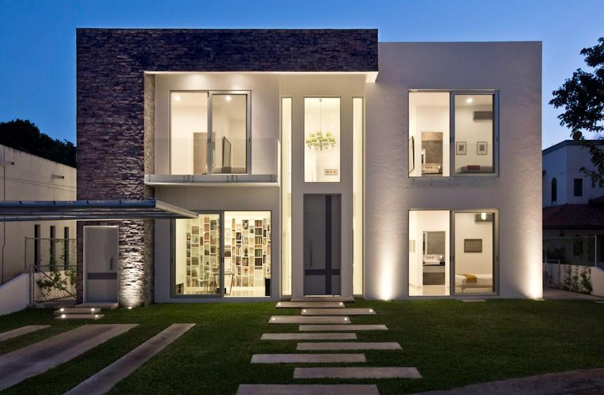Fachadas de casas minimalistas for Fachada de casas modernas estilo oriental