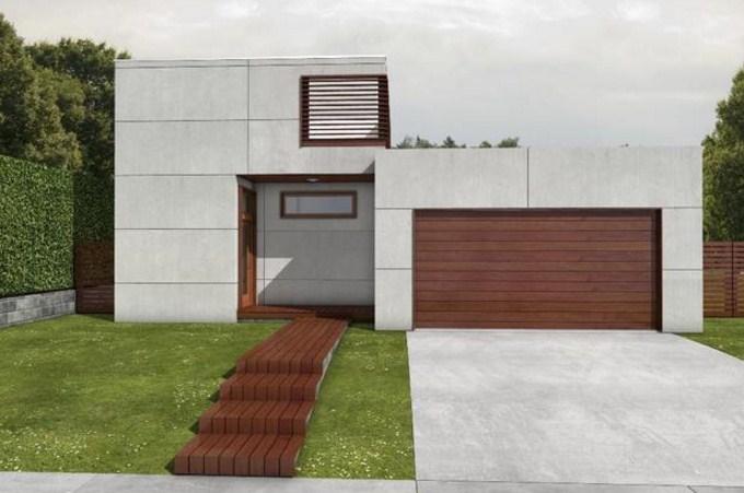 Fachadas de casas modernas con bloques de cemento
