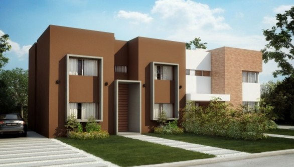 Fachadas de casas modernas con molduras