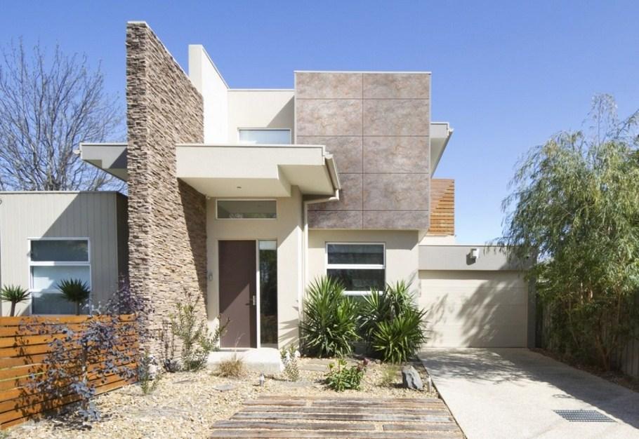 Fachadas de casas modernas en tonos grises - Fachadas exteriores de casas ...