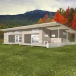 Fachadas de casas prefabricadas