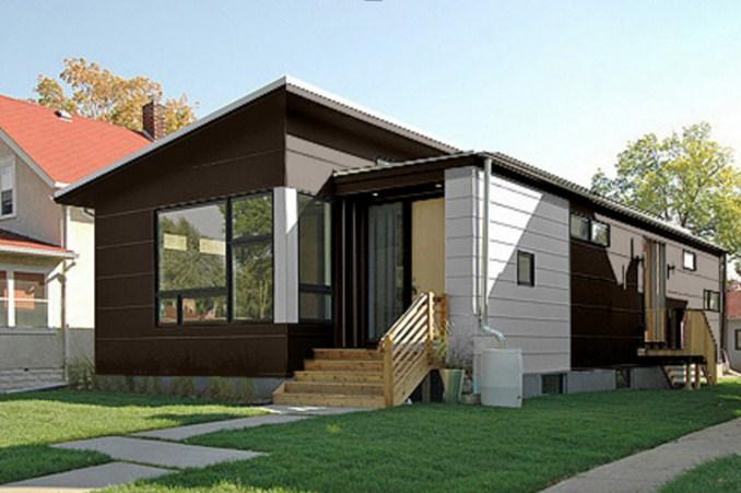 Fachadas de casas prefabricadas bonitas