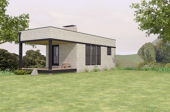 Fachadas de casas prefabricadas de cemento