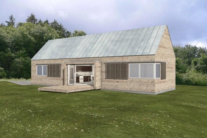 Fachadas de casas prefabricadas de madera