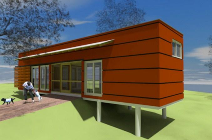 Fachadas de casas prefabricadas de metal
