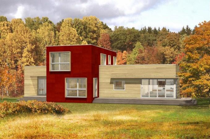 Fachadas de casas prefabricadas grandes