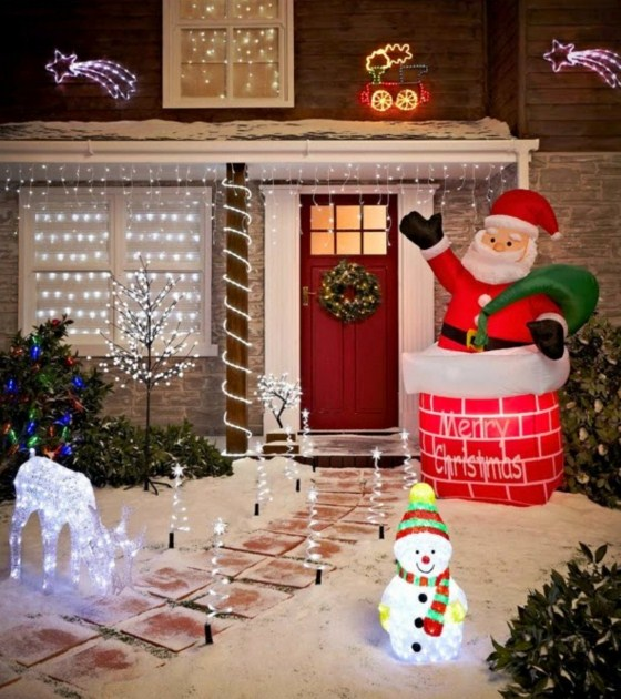 Fachadas decoradas para navidad