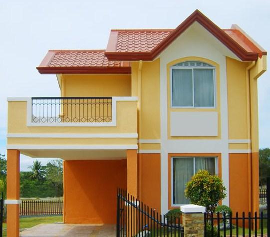 Fachadas modernas de dos pisos con cochera abierta