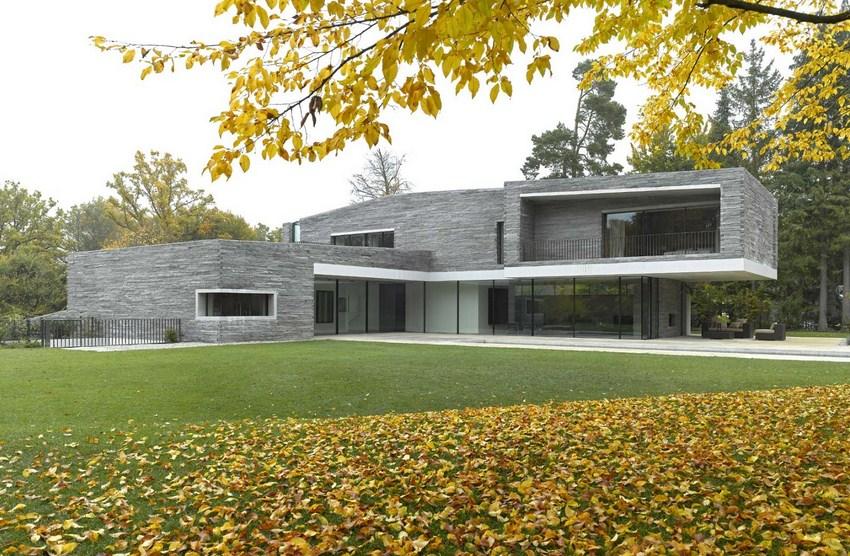 Fachadas modernas en tonos grises