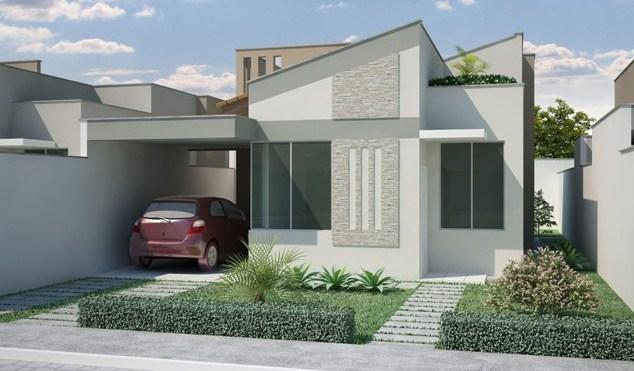 Frentes de casas con cochera abierta