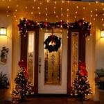 Fachadas de casas con luces navideñas