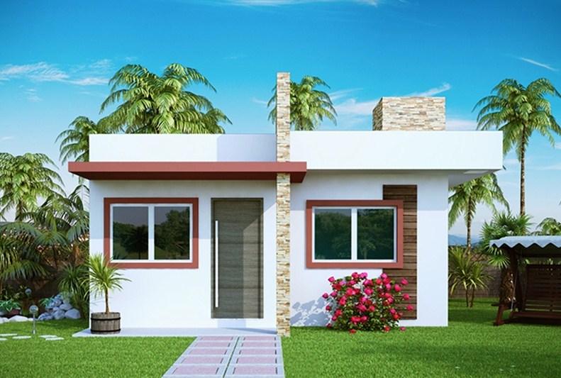 Fachadas de casas con techo a dos aguas - Modelos de casas de un piso bonitas ...