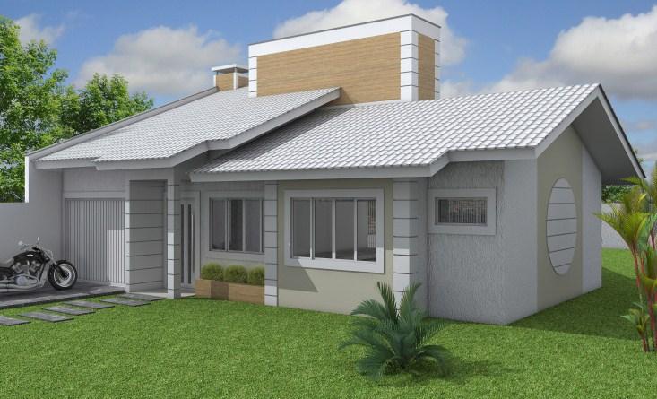 fachadas de casas con techo a dos aguas