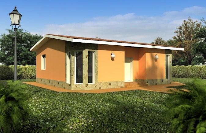 Fachadas de casas con techo a dos aguas for Diseno de casa sencilla