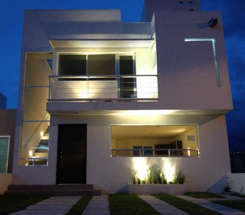 Fachadas iluminadas leds for Luces led para casas exterior