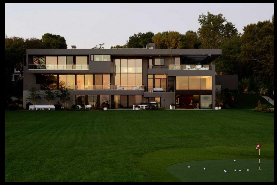 Fachada de mansi n moderna for Mansiones lujosas modernas