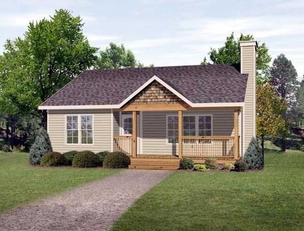 Fachadas de casas bonitas y sencillas for Modelos de casas de madera de un piso