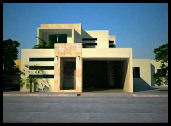 Frentes de casas for Modelos de casas minimalistas modernas
