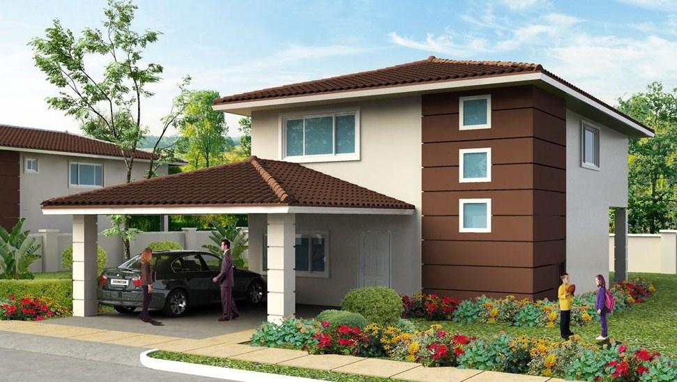 fachadas de casas residenciales
