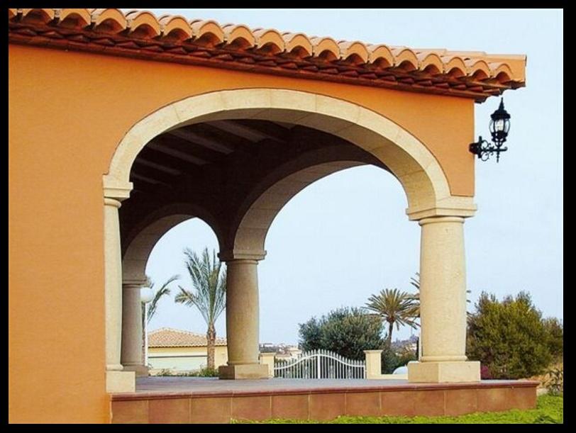 Fachadas con columnas