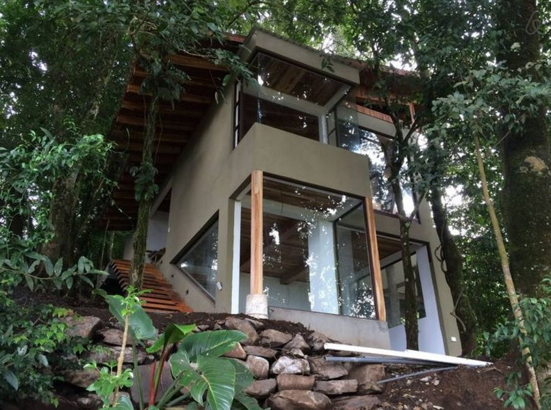 Fachadas con ventanas panoramicas