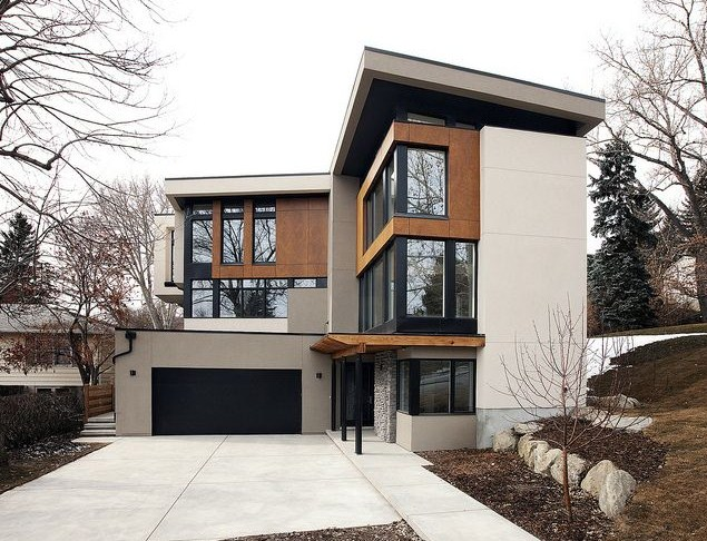 Fachadas de casas bonitas con ventanas grandes