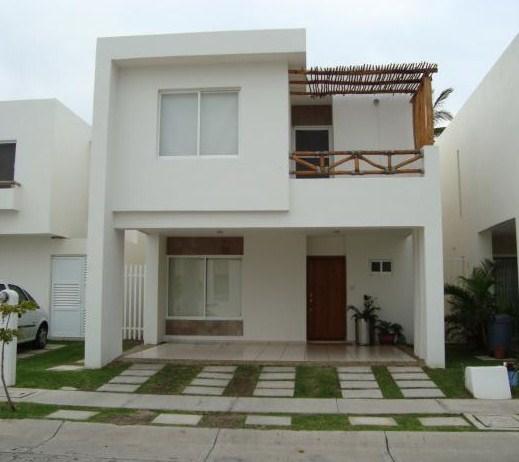 Fachadas de casas con baldosas de cemento