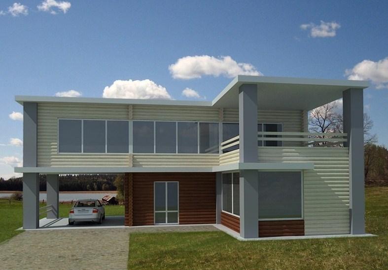 Fachadas de casas con entradas