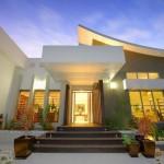 Fachadas de casas con escaleras