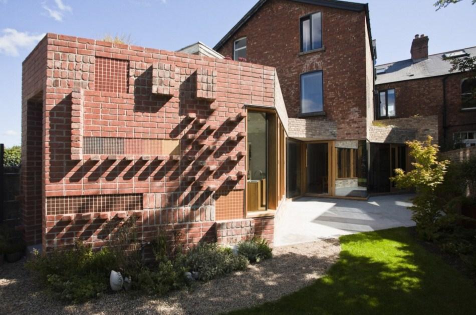 fachadas de casas con ladrillos vistos
