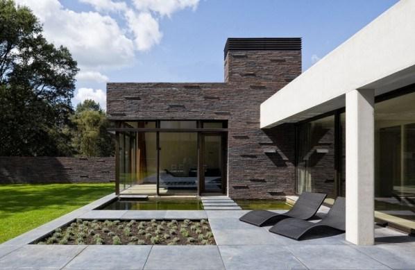 Fachadas de casas con lajas simetricas