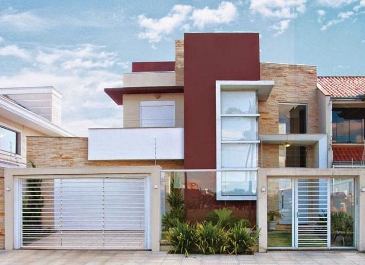 frentes de casas con rejas horizontales On casas modernas con rejas