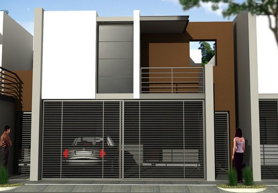 Frentes de casas con rejas horizontales for Frentes de casas minimalistas