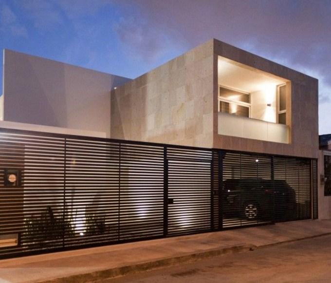 Frentes de casas con rejas horizontales - Rejas de diseno moderno ...
