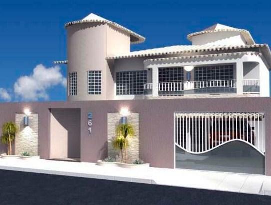 Fachadas de casas con rejas verticales blances