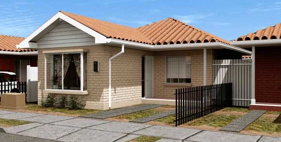 Fachadas de casas con siding de fibrocemento