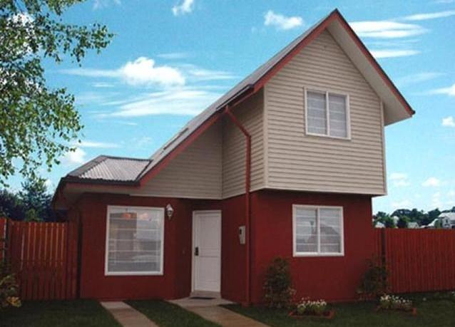 Fachadas de casas con siding de madera