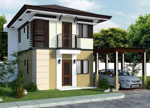 Fachadas de casas con ventanas de madera y aluminio