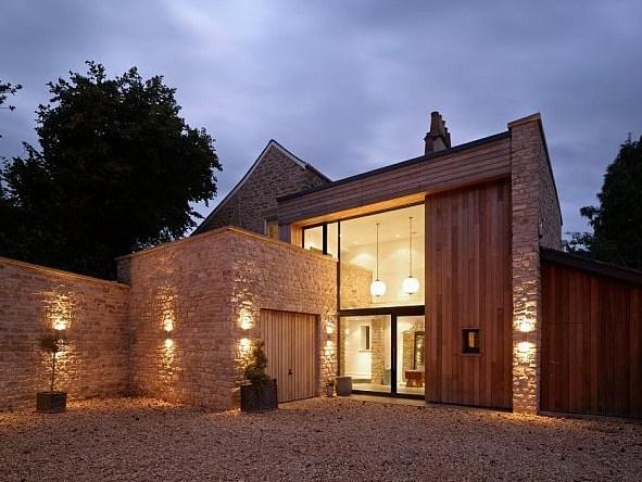Fachadas de casas con ventanas modernas