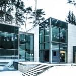 Fachadas de casas con ventanas panoramicas
