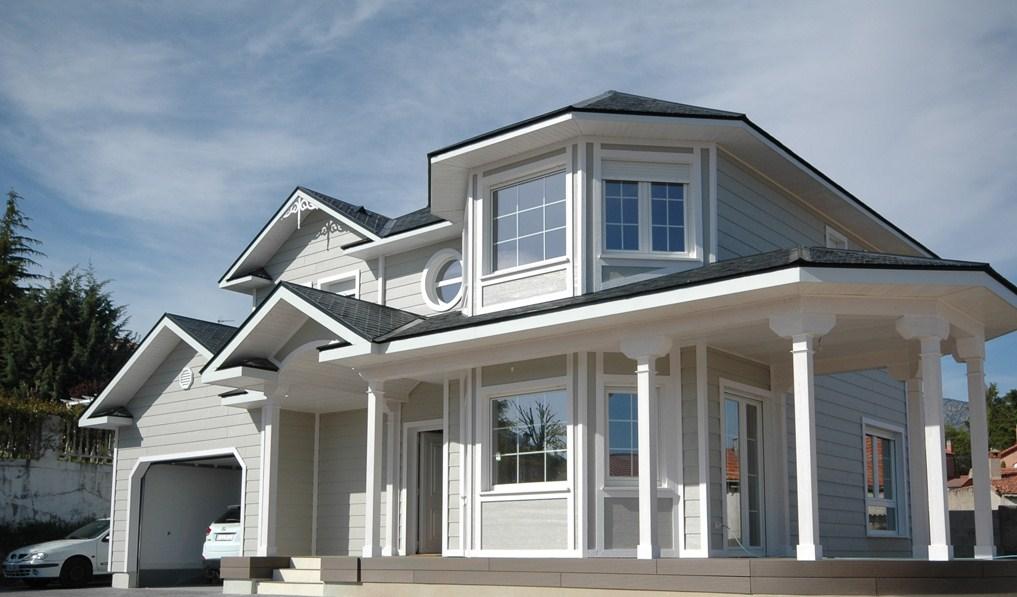 Fachadas de casas con ventanas redondas