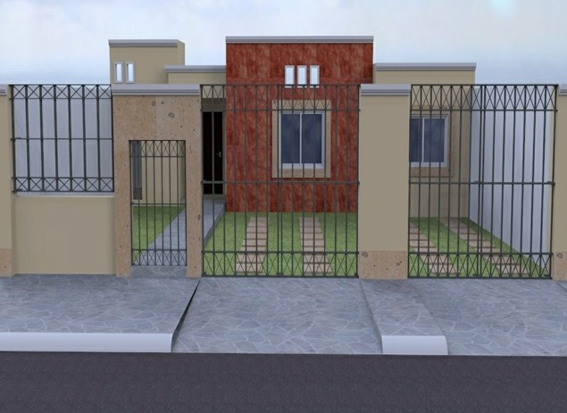 fachadas de casas con vitropiso