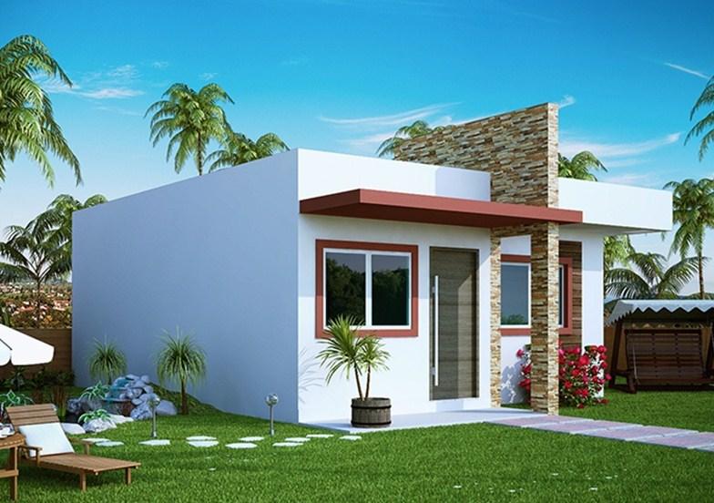 Fachadas de casas sencillas part 2 - Modelos de casas de un piso bonitas ...