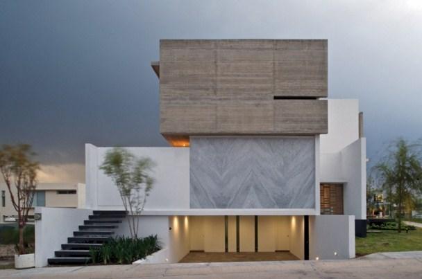 Fachadas de casas minimalistas con escaleras