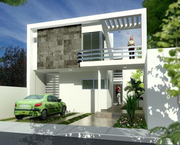 Fachadas de casas modernas con balcones for Modelos de casas con terrazas modernas
