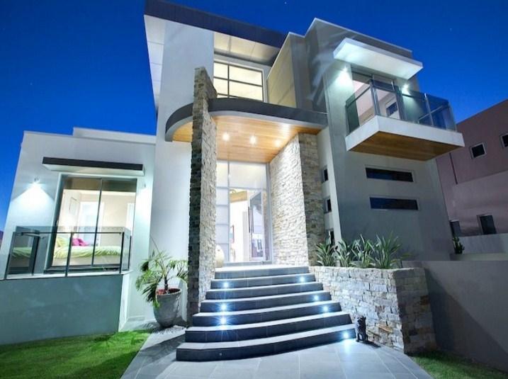 Fachadas de casas modernas con escalera - Escaleras para casas modernas ...