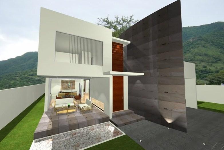 Fachadas de casas modernas con escalones
